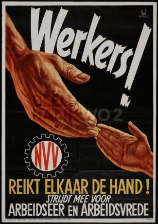 Werkers! Reikt elkaar de hand!