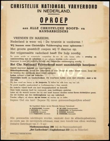 CNV Oproep: Nederland is weer vrij!