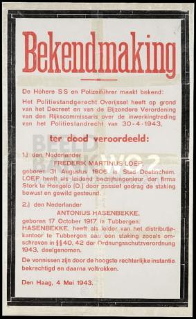 Loep en Hasenbekke ter dood veroordeeld
