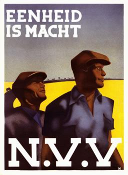 NVV affiche: 'Eenheid is macht'